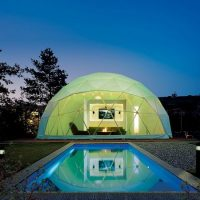 notte in cupola geodetica