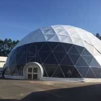 cupola geodetica metallo