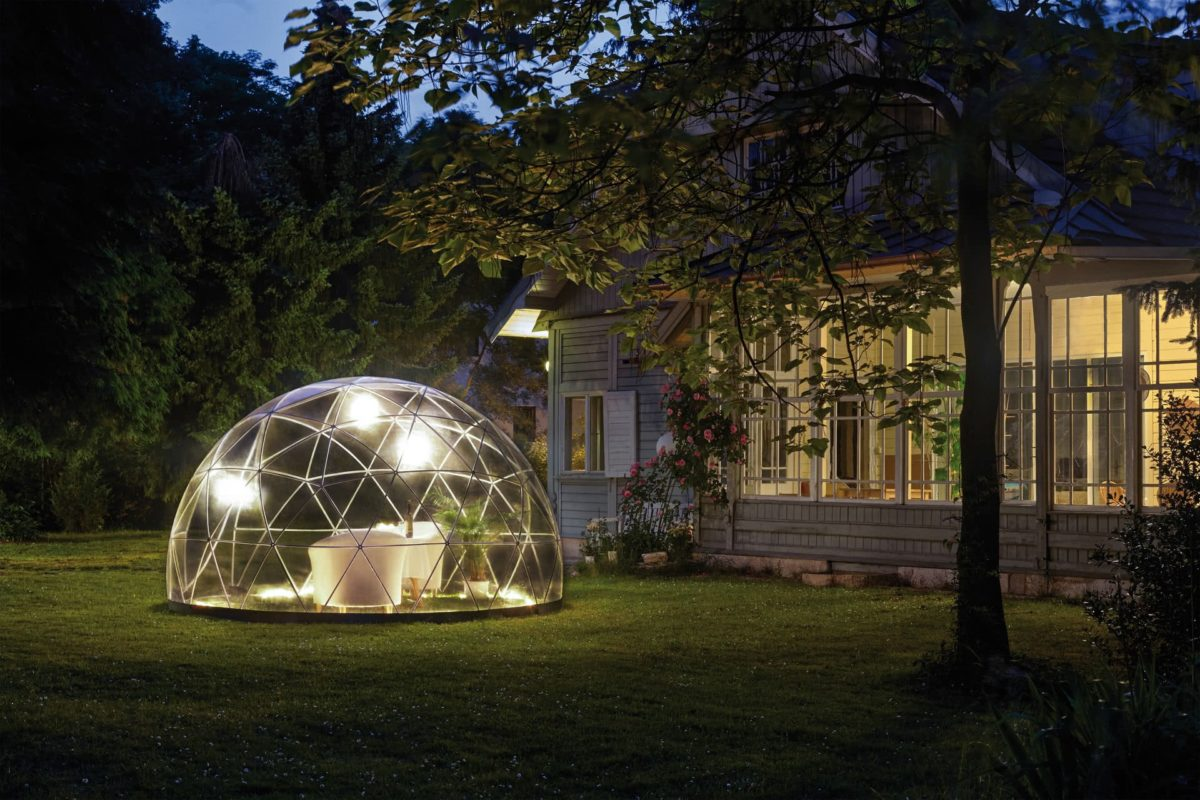cupola giodetica esterno