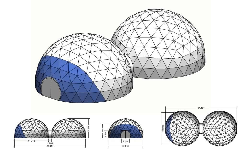 Calcolo per cupola geodetica: una costruzione complessa
